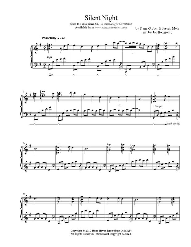 Silent Night Sheet Music Pdf Click To Preview Larger: Silent Night Piano Sheet At Alzheimers-prions.com