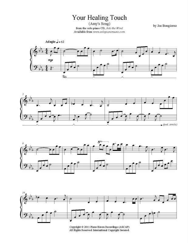 Song Of Healing Piano Sheet Music Heartpulsar