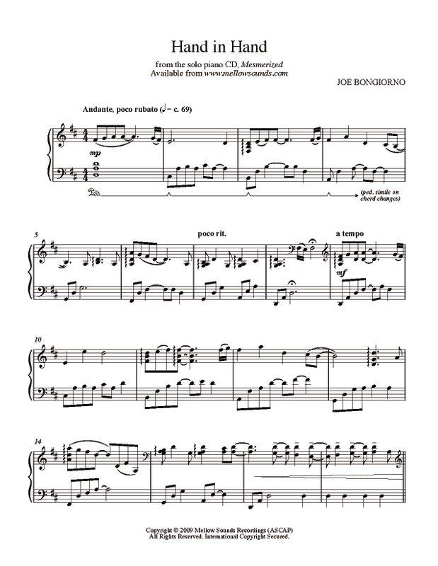 Hand In Hand Sheet Music Pdf Joe Bongiorno Shigeru Kawai Solo
