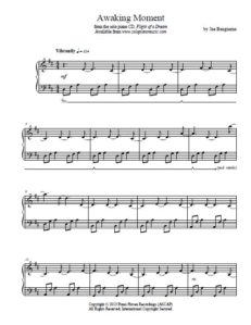 Awakening Moment Sheet Music